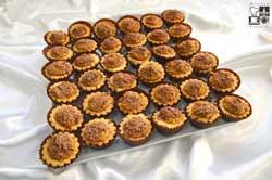 Babeczki z miodowym toffi i wiórkami gorzkiej czekolady